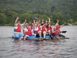 Team on the raft