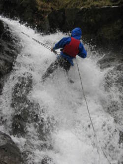 aquaseiling and waterfall climbing team building Lake District