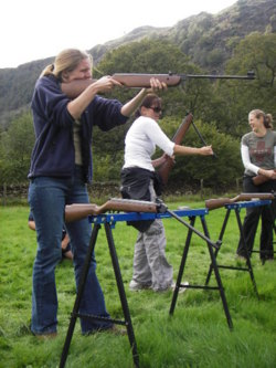 rifle shooting corporate team build training Lake District cumbr