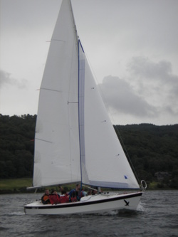 Sailing team building events in the lake district