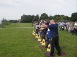 Team building with archery Lake District Lancashire uk