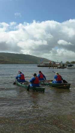 Team Building open canoe events Lake District Coniston Windermer