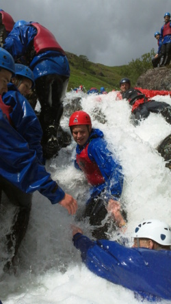 Team corporate events canyoning Coniston Cumbria