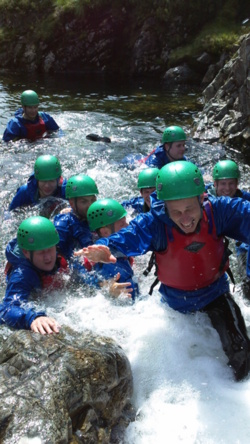 Team building events gorge scrambling Coniston Windermere Bownes